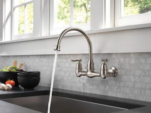 wall mounted kitchen faucet